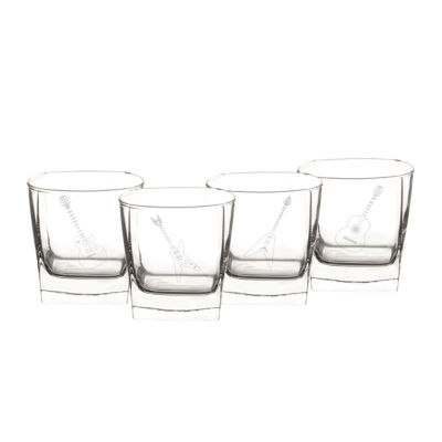 Cathy's Concepts Set of 4 Guitar Rocks Glasses