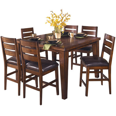 Signature Design by Ashley® Larchmont Counter-Height Dining Table with Leaf