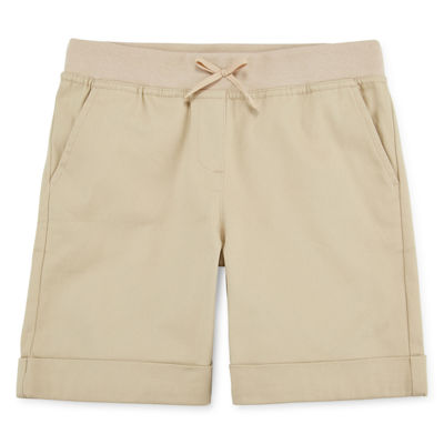 IZOD® Stretch Twill Knit Waist Shorts - Girls 7-16 and Plus