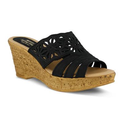 Spring Step Dora Slide Wedge Sandals