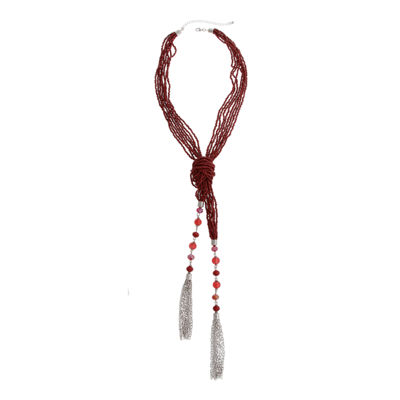 Mixit Color Newness Womens Round Beaded Necklace