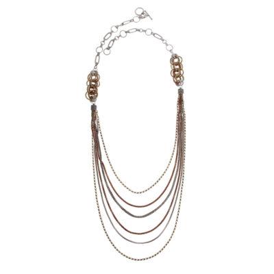 EL by Erica Lyons El By Erica Lyons July Tritone 36 Inch Chain Necklace