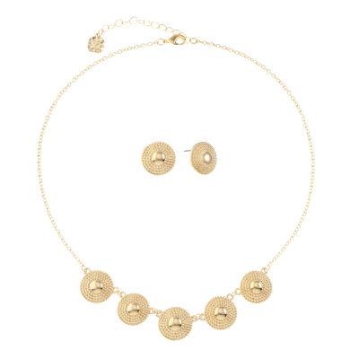 Monet Jewelry Womens Gold Tone 2-pc. Jewelry Set
