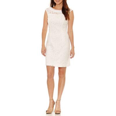 Studio 1 Sleeveless Embellished Sheath Dress-Petites