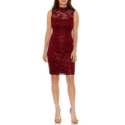 Blu Sage Sleeveless Sheath Dress-Petites