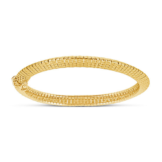 Made in Italy 18K Gold Over Silver Bangle Bracelet