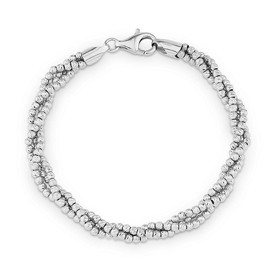 Made in Italy Sterling Silver Beaded Bracelet