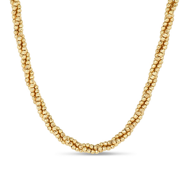 18K Gold Over Silver Beaded Necklace
