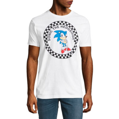 Sonic in Check Circle Short-Sleeve Graphic T-Shirt
