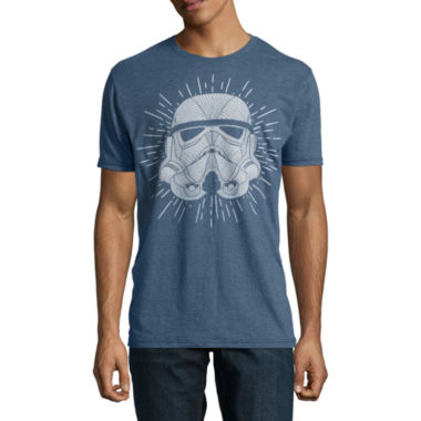 Short Sleeve Star Wars Tv + Movies Storm Trooper  Graphic T-Shirt