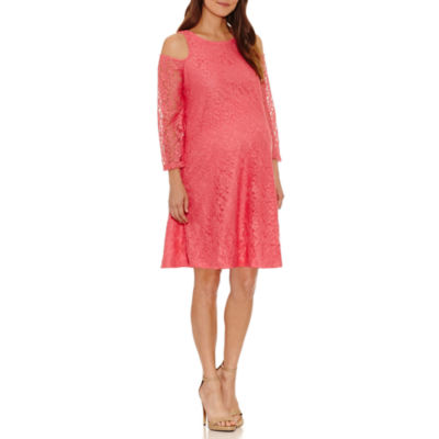 Planet Motherhood 3/4 Sleeve Swing Dress