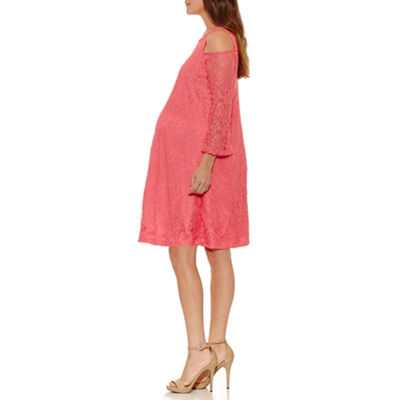 Planet Motherhood 3/4 Sleeve Swing Dress - Maternity