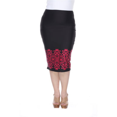 White Mark Eden Pencil Skirt-Plus