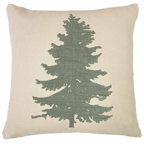 Hiend Accents 18x18 Pine Tree Bed Rest Pillow