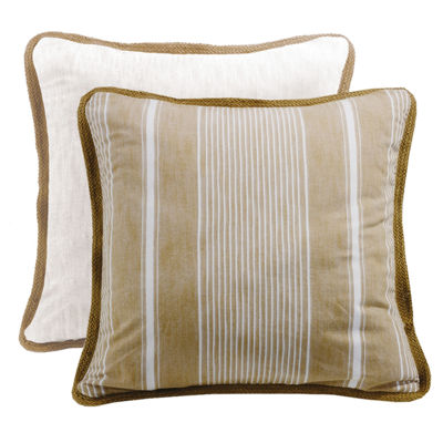 Hiend Accents 27x27 Reversible Striped Euro Sham