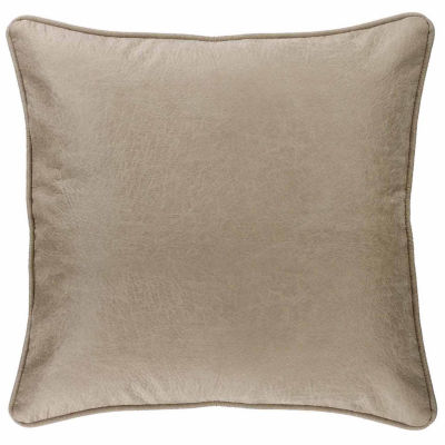 Hiend Accents 27x27 Silverado Faux Leather Euro Sham