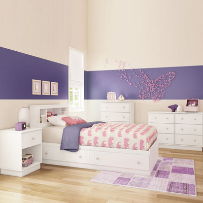 South Shore South Shore Litchi 2-Drawer Twin Mates Bed