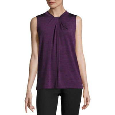 Liz Claiborne Twist Front Knit Tank Top