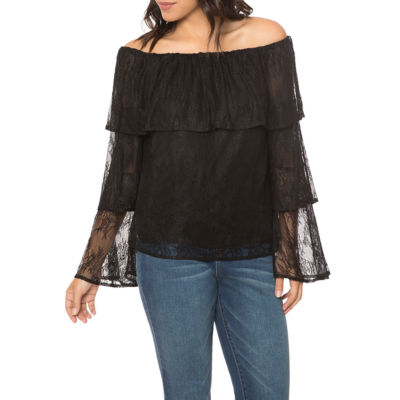 T.D.C Off Shoulder Ruffle Top