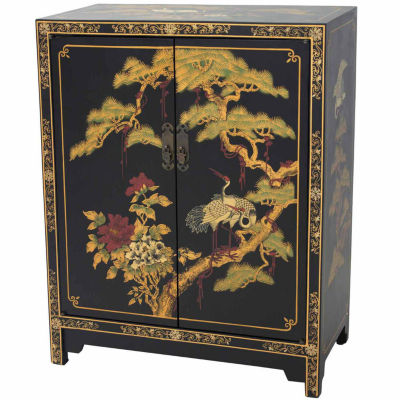 Handmade Lacquered Accent Cabinet