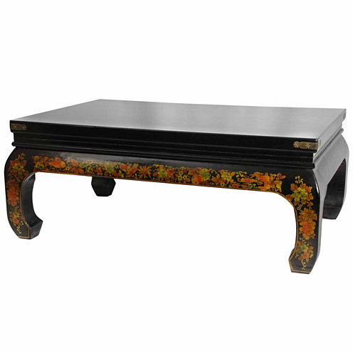 Oriental Furniture Peaceful Village Coffee Table