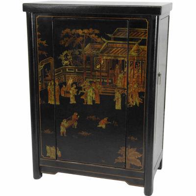 Black Lacquer Wine Cabinet