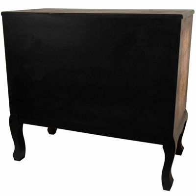 Oriental Furniture Olde-Worlde Euro 3-Drawer Console Table