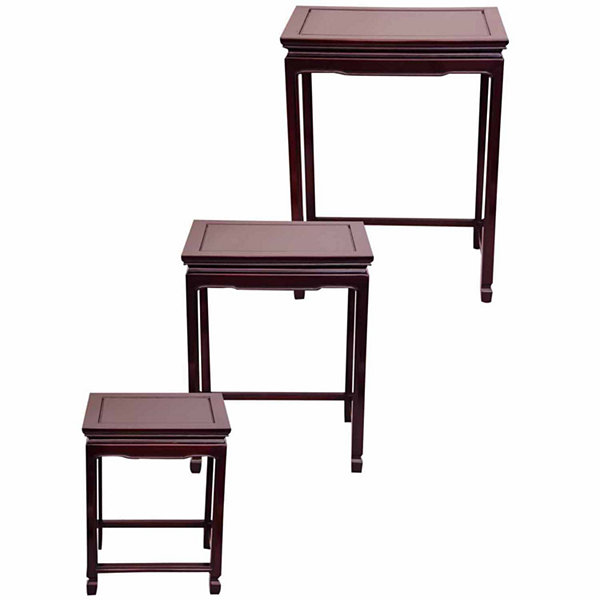 Rosewood 3-pc. Nesting Tables