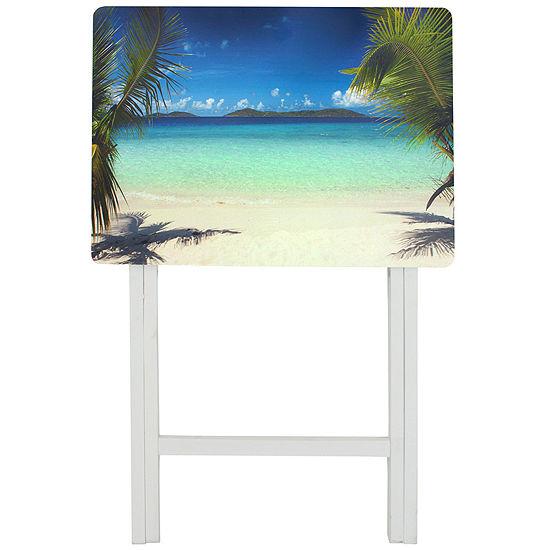 Caribbean Beach Tv Tray Table