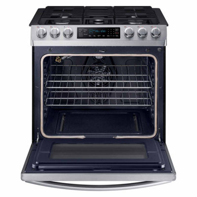 Samsung 5.8 cu. ft. Smart Wi-Fi Enabled Slide-In Gas Range with Fan Convection