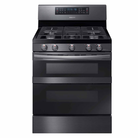Samsung 5.8 cu. ft. Smart Wi-Fi Enabled Flex Duo™ with Dual Door Freestanding Gas Range