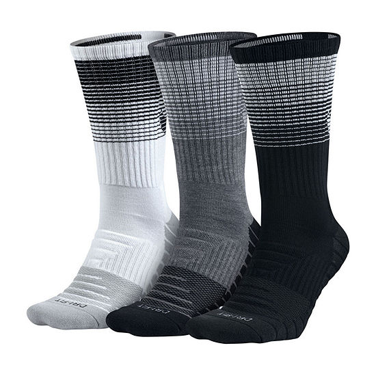 Nike® 3 Pair Dry Cushion Training Crew Socks - Men's