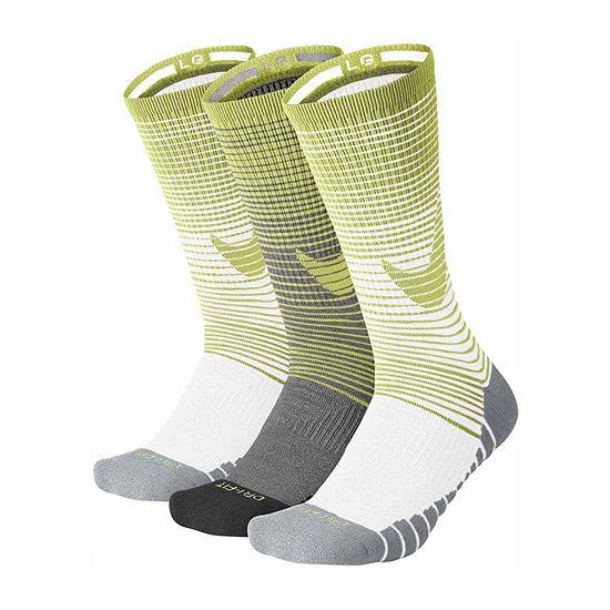 Nike® 3 Pair Dry Cushion Training Crew Socks - Men's