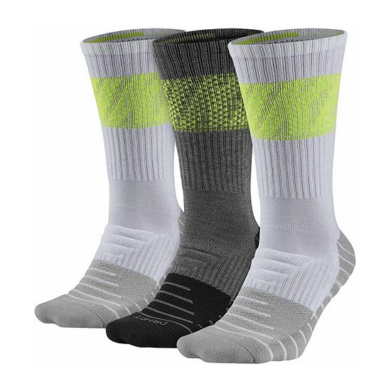 Nike® Mens 3 Pair DRI-FIT Max Cushion Training Crew Sock  - Big & Tall