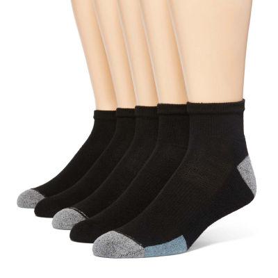 Hanes® Men's 5-pk. + 1 Bonus Solid Pair X-Temp® Quarter Socks