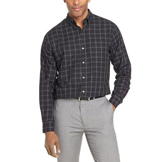 Van Heusen Mens Long Sleeve Striped Button-Down Shirt