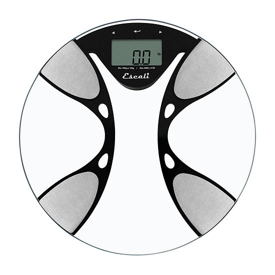 Escali Round Body Fat And Body Water Bathroom Scale