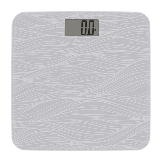 Escali Grey Pattern Glass Bathroom Scale