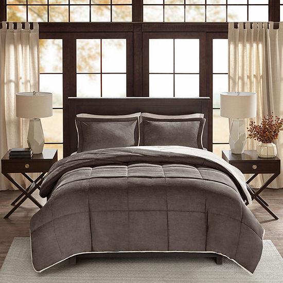Madison Park Jackson Cordurory Reverse To Berber Comforter Set