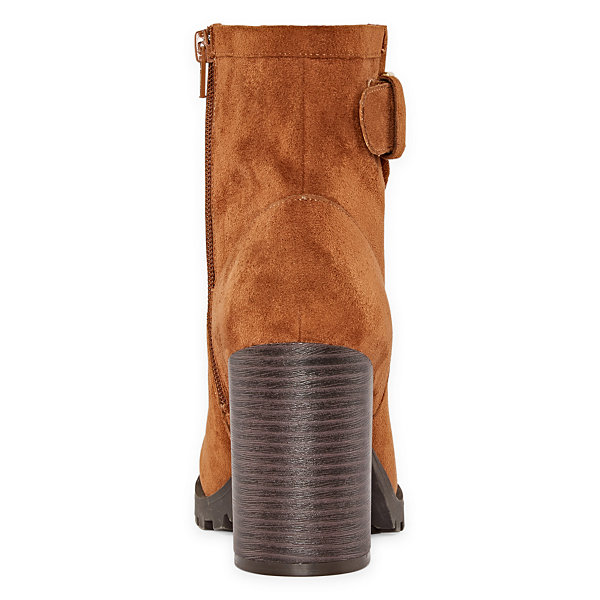 a.n.a Womens Ronnie Motorcycle Boots Block Heel