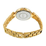 Burgi Womens Crystal Accent Gold Tone Stainless Steel Bracelet Watch-B-226ygn