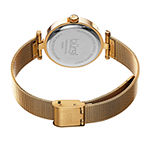 Burgi Womens Crystal Accent Gold Tone Stainless Steel Bracelet Watch-B-231yg
