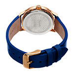 Burgi Womens Blue Strap Watch-B-238bu