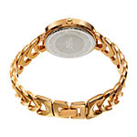 Akribos XXIV Womens Diamond Accent Gold Tone Bracelet Watch-A-1088yg