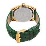 August Steiner Womens Green Leather Strap Watch-As-8221gn