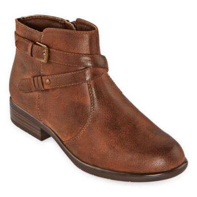 Yuu Womens Becca Booties Stacked Heel