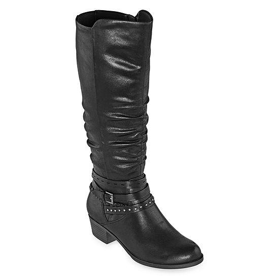 Yuu Womens Ninah Riding Boots Block Heel