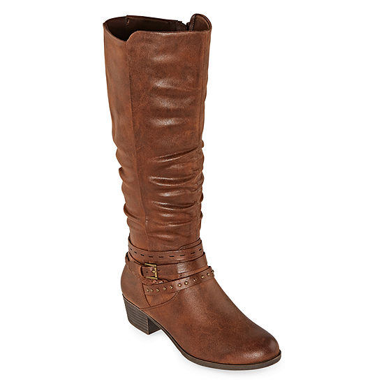 Yuu Womens Ninah Riding Boots Block Heel