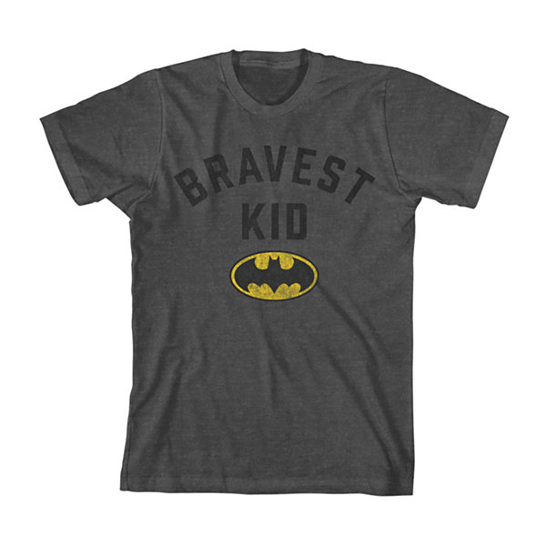 Boys Crew Neck Short Sleeve Batman Graphic T-Shirt - Preschool / Big Kid