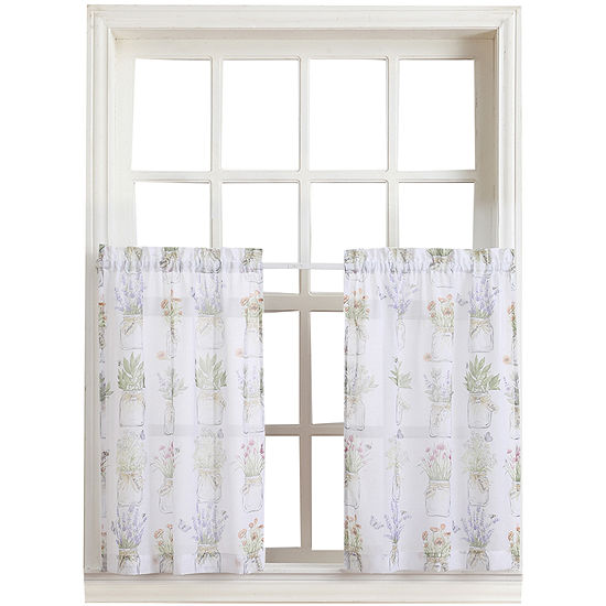 Eve's Garden Rod-Pocket Sheer Window Tiers